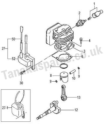 CYLINDER/PISTON/CRANK SHAFT